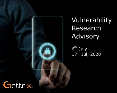 Vulnerability Research Advisory 6th July to 17th July