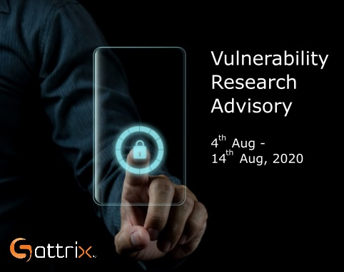 Vulnerability Research Advisory 4th Aug to 14th Aug
